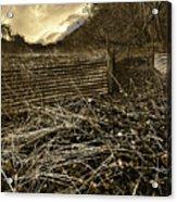 Corrugated Tin Pen Acrylic Print by Meirion Matthias