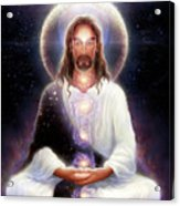 Cosmic Christ Acrylic Print by George Atherton