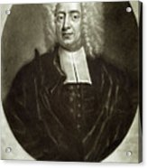 Cotton Mather 1663-1728 Acrylic Print by Granger