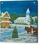 Country Christmas Acrylic Print by Charlotte Blanchard