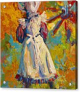 Country Girl Acrylic Print by Marion Rose