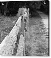 County Fence  Acrylic Print by D R TeesT