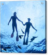 Couple At The Surface Acrylic Print by Ed Robinson - Printscapes