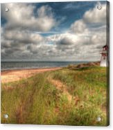 Covehead Lighthouse Acrylic Print by Elisabeth Van Eyken