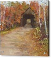 Covered Bridge  Southern Nh Acrylic Print by Jack Skinner