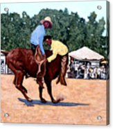 Cowboy Conundrum Acrylic Print by Tom Roderick