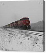 Cp Rail 2 Acrylic Print by Stuart Turnbull