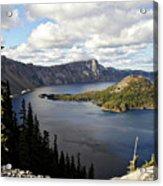 Crater Lake - Intense Blue Waters And Spectacular Views Acrylic Print by Christine Till