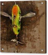 Creeper Muskie Lure Acrylic Print by Larry Seiler