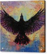Crow Acrylic Print by Michael Creese