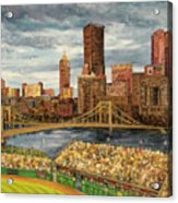 Crowded At Pnc Park Acrylic Print by E E Scanlon