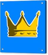 Crown Graphic Design Acrylic Print by Pixel Chimp
