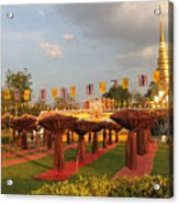 cubicles of Thai monk Acrylic Print by Knot Frazher