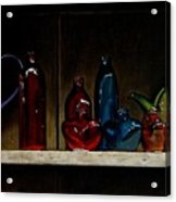 Cupboard Bottles Acrylic Print by Doug Strickland