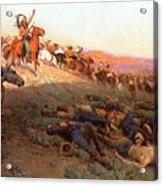 Custer's Last Stand Acrylic Print by Richard Lorenz
