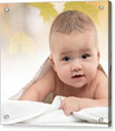 Cute Four Month Old Baby Boy Acrylic Print by Oleksiy Maksymenko