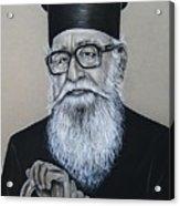 Cypriot Priest Acrylic Print by Anastasis  Anastasi