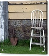 Dads High Chair Acrylic Print by Lauri Novak