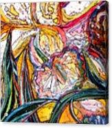 Daffodil Delirium Acrylic Print by Mindy Newman
