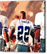Dallas Cowboys Triplets Acrylic Print by Paul Van Scott