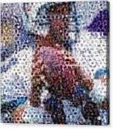 Dan Marino Mosaic Acrylic Print by Paul Van Scott