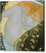 Danae Acrylic Print by Gustav Klimt