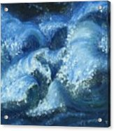 Dance Of The Stormy Sea Acrylic Print by Tanna Lee M Wells
