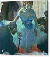 Dancer In Her Dressing Room Acrylic Print by Edgar Degas