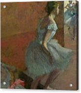 Dancers Ascending A Staircase Acrylic Print by Edgar Degas