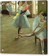 Dancers In The Classroom Acrylic Print by Edgar Degas