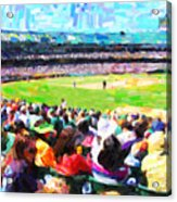 Day Game At The Old Ballpark Acrylic Print by Wingsdomain Art and Photography