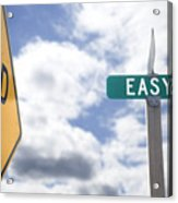 Dead End On Easy Street Acrylic Print by Ed Book