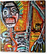 Death Of Basquiat Acrylic Print by Robert Wolverton Jr
