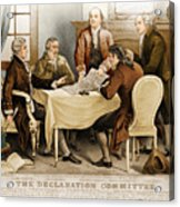 Declaration Committee 1776 Acrylic Print by Photo Researchers