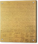 Declaration Of Independence Acrylic Print by American School