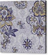 Deco Flower Blue Acrylic Print by JQ Licensing