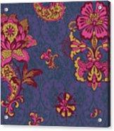 Deco Flower Purple Acrylic Print by JQ Licensing