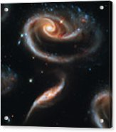 Deep Space Galaxy Acrylic Print by The  Vault - Jennifer Rondinelli Reilly