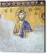 Deesis Mosaic Of Jesus Christ Acrylic Print by Artur Bogacki