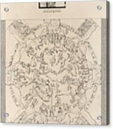 Dendera Zodiac From The Temple Of Hathor Acrylic Print by Humanities And Social Sciences Libraryasian And Middle Eastern Division