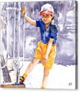 Denis 02 Acrylic Print by Yuriy  Shevchuk