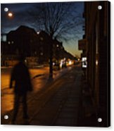 Denmark, Copenhagen, Man Walking Acrylic Print by Keenpress