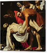 Deposition Acrylic Print by Michelangelo Merisi da Caravaggio
