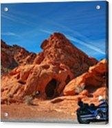 Desert Rider Acrylic Print by Charles Warren