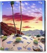 Desert Sunrise Acrylic Print by Snake Jagger