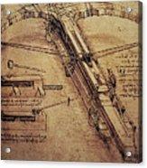 Design For A Giant Crossbow Acrylic Print by Leonardo Da Vinci