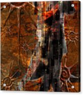 Destiny Tangos Con Chance En El Salon De Eternidad Acrylic Print by Kenneth Armand Johnson