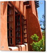 Detail Of A Pueblo Style Architecture In Santa Fe Acrylic Print by Susanne Van Hulst