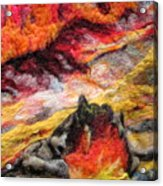 Detail Of Fire Acrylic Print by Kimberly Simon
