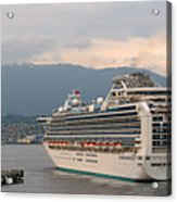 Diamond Princess Leaving Vancouver British Columbia Canada Acrylic Print by Christine Till